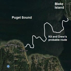Blake Island w trace